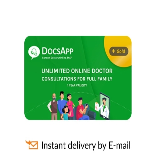 DocsApp Gold | Unlimited Doctor Consultation E-Gift Card