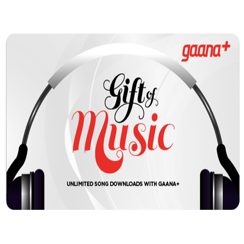 Gaana E-Gift Card - Rs. 399 for 12 months subscription
