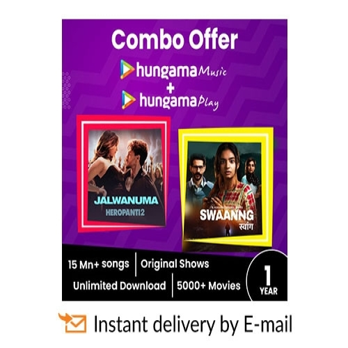 Hungama Combo E-Gift Card - 1 Year Subscription - Rs 799