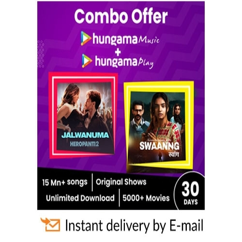 Hungama Combo E-Gift Card - 1 Month Subscription - Rs 149