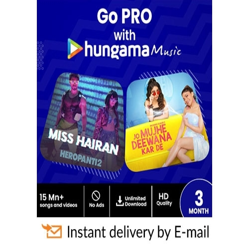 Hungama Music E-Gift Card - 3 Months Subscription - Rs 269