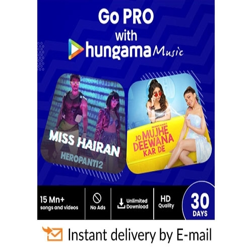 Hungama Music E-Gift Card - 1 Month Subscription - Rs 99