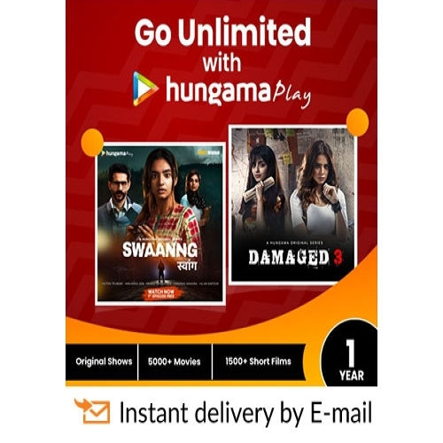 Hungama Play E-Gift Card - 1 Year Subscription - Rs 499