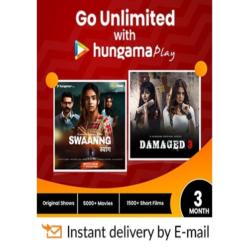 Hungama Play E-Gift Card - 3 Months Subscription - Rs 269