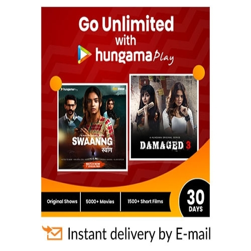 Hungama Play E-Gift Card - 1 Month Subscription - Rs 99