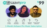 Saavn E-Gift Card - Rs. 99 for 1 month subscription