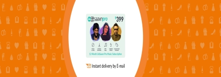 Saavn E-Gift Card - Rs. 999 for 1 Year subscription