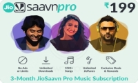 Saavn E-Gift Card - Rs. 285 for 3 months subscription