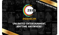 Zee5 6 Month Subscription Gift Card Logo