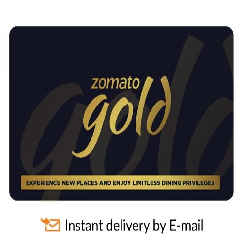 Zomato Gold E-Gift Voucher 12 months membershi